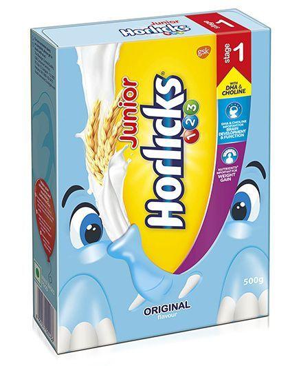 Junior Horlicks Stage 1 Original Flavor - 500 gm Refill Pack