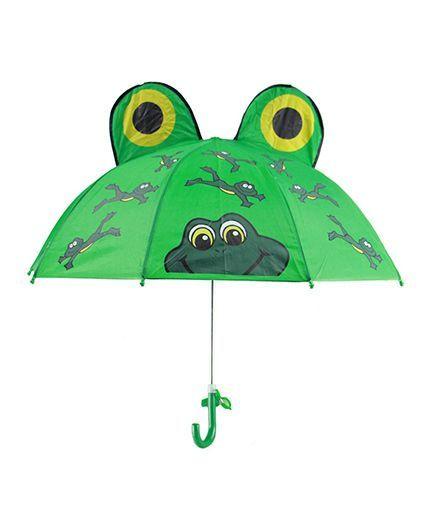 Superfie Frog Printed Umbrella - Green
