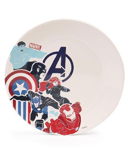 Avengers Dinner Plate - Off White