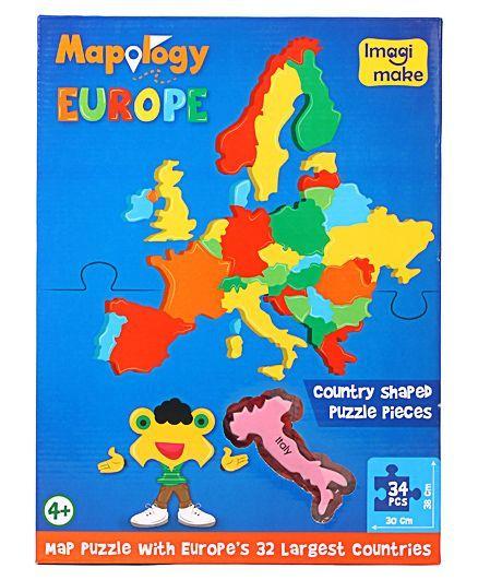 Imagi make destination europe map puzzle 34 pieces online india buy imagi make destination europe map puzzle 34 pieces gumiabroncs Gallery
