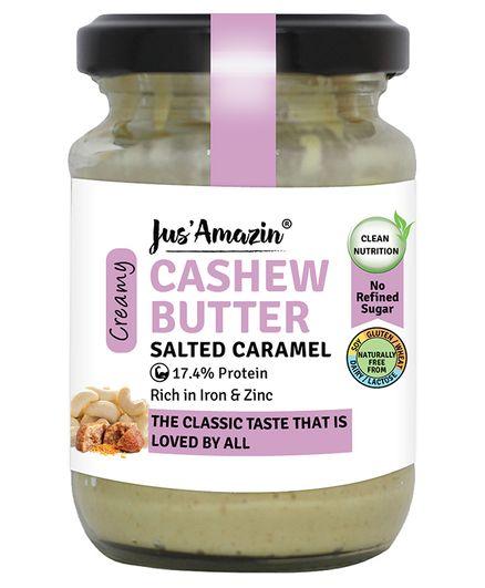 Jus ' Amazin Cashew Butter Salted Caramel - 125 gms