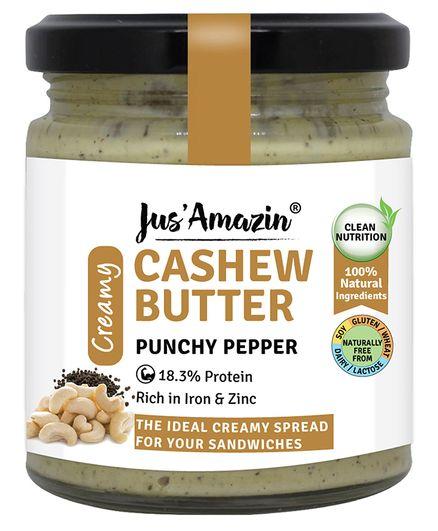 Jus' Amazin Cashew Butter Punchy Pepper - 200 gm