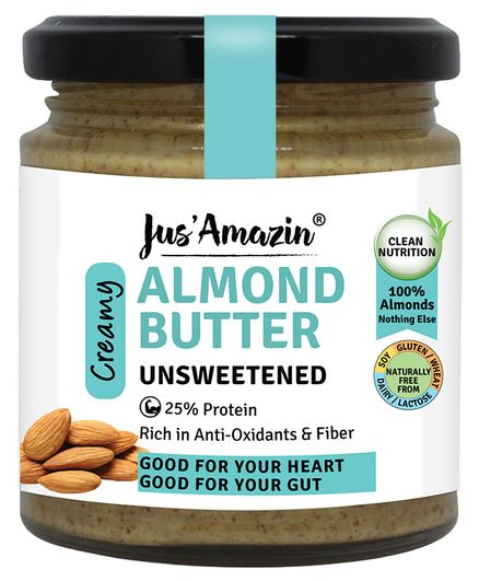 Jus ' Amazin Almond Butter All Naturals - 200 gms