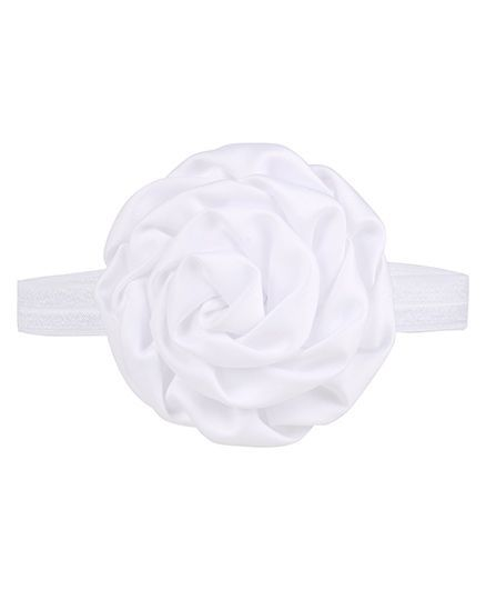 Baby Angel Big Flower Headband - White