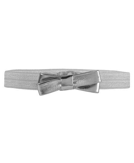Baby Angel Double Bow Headband - Silver