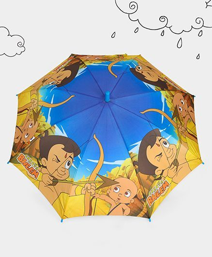 Chhota Bheem Printed Umbrella - Blue Yellow