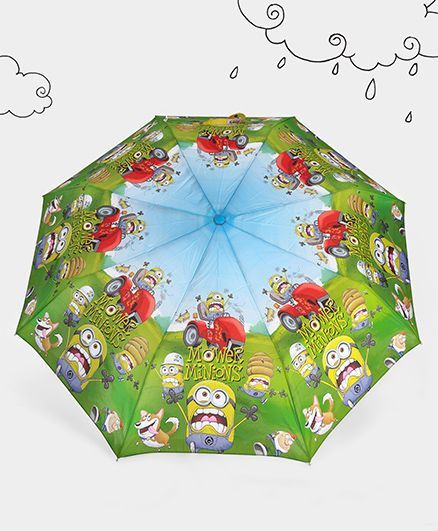Minions Theme Umbrella - Light Green