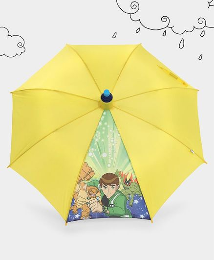 Ben 10 Printed Umbrella With Pipe Case - Yellow