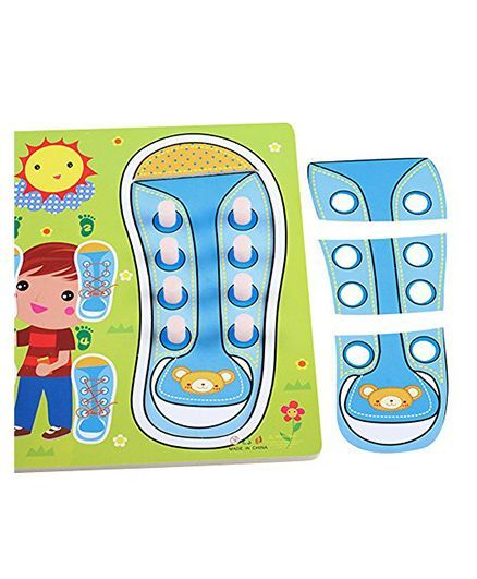 Home Union Learn To Tie Your Shoes Kids Puzzles Toy Blue Online