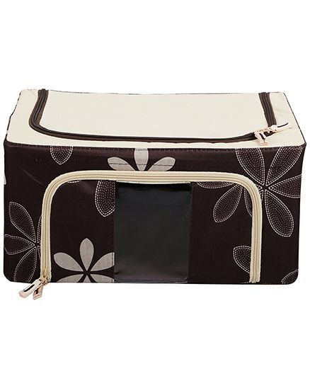 Home Union Floral Print Storage Box - Brown