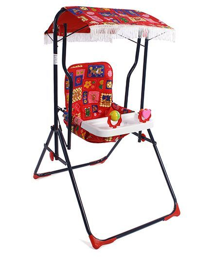 Mothertouch Garden Swing - Red Black