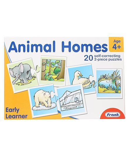 Frank Animal Homes Self Correcting Puzzles - 40 Pieces