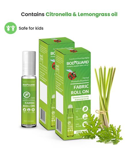 BodyGuard Herbal Fabric Roll On Pack of 2 - 10 ml
