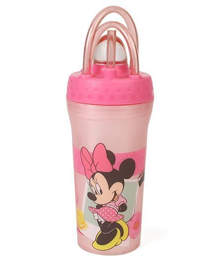 Minnie Mouse Tumbler With Straw Pink - 430 ml