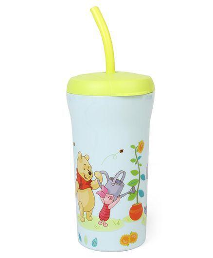 Disney Winnie The Pooh Sipper With Straw Blue - 350 ml