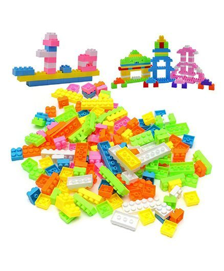 Emob Building & Stacking Block Set Multicolour - 88 pieces