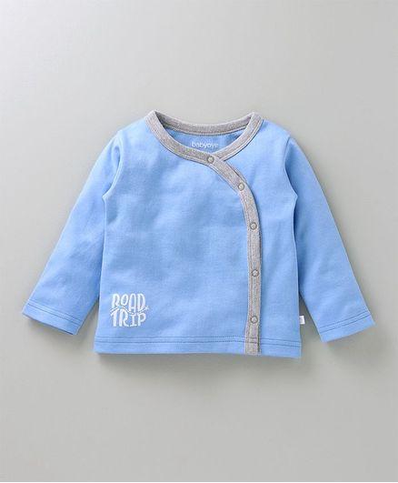 Babyoye Full Sleeves Vest Road Trip Print - Blue