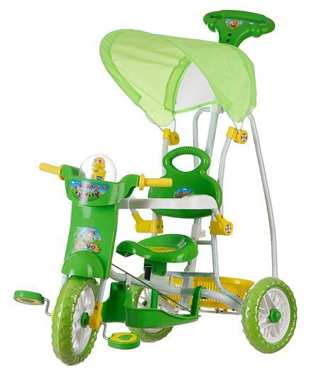 Dash Kids Tricycle With Music & Canopy - Green