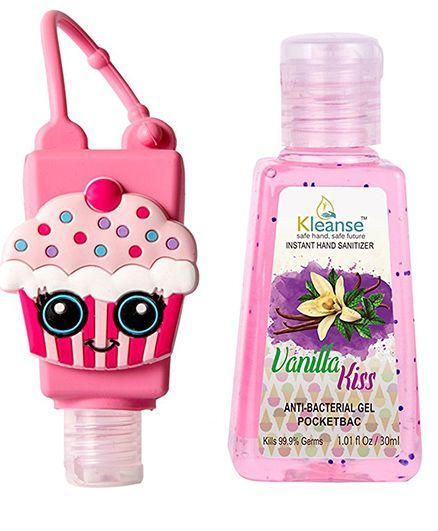 Kleanse's Anti Bacterial Vanilla Hand Sanitizer With Cupcake Shape Holder - 30 ml