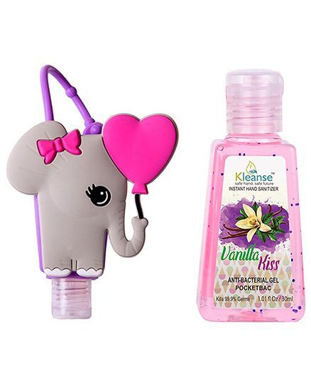 Kleanse's Anti Bacterial Vanilla Hand Sanitizer With Elephant Shape Holder - 30 ml