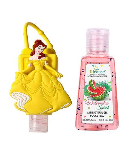 Kleanse's Anti Bacterial Watermelon Hand Sanitizer With Cinderella Shape Holder - 30 ml
