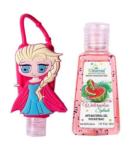 Kleanse's Anti Bacterial Watermelon Hand Sanitizer With Girl Shape Holder - 30 ml