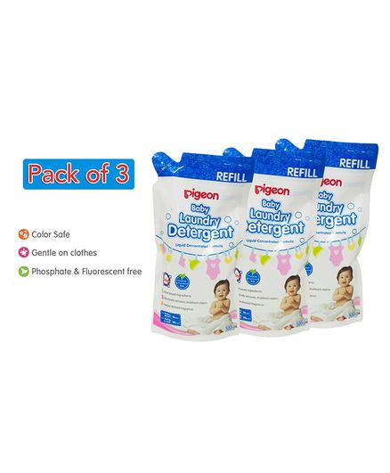 Pigeon Liquid Laundry Detergent Refill Pack Combo Set Of 3 - 500 ml each