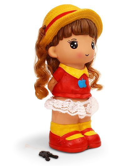 Speedage Jessica Money Bank Red & Yellow - Height 25 cm