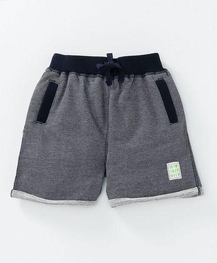 Babyoye Striped Shorts With Drawstring - Navy Blue