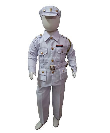 BookMyCostume Indian Navy Professionals & Community Helpers Fancy Dress Costume - White