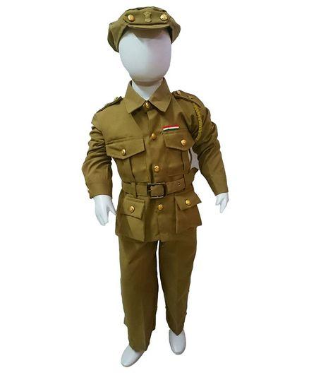 BookMyCostume Police Community Helper Fancy Dress Costume - Green