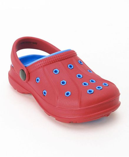 Cute Walk by Babyhug Clogs With Back Strap - Red Blue