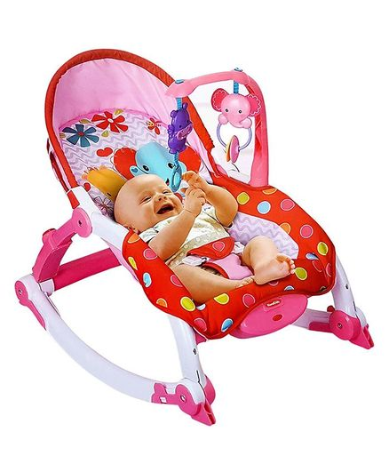 Toyshine Newborn To Toddler Vibrating Rocker Chair - Pink