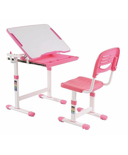 Kidomate Table & Chair With Height Adjustment - Pink