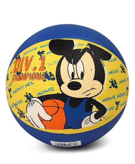 Disney Mickey Mouse Basketball - Blue & Yellow