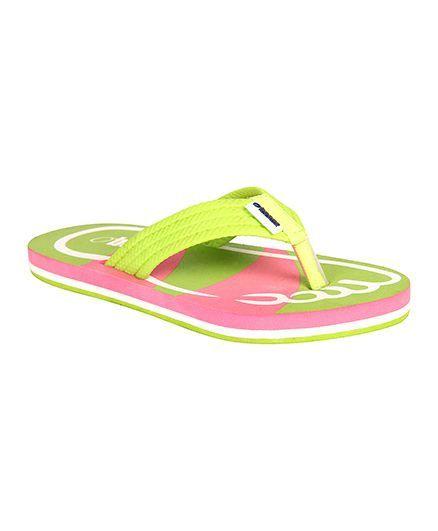 Beanz Alex Flip Flop - Green & Pink