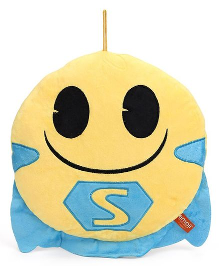 My Baby Excels Emoji S Cape Face Plush Soft Toy Blue Height 30 Cm