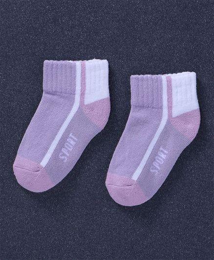 Mustang Ankle Length Socks Sport Design - Purple
