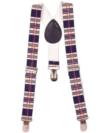 Miss Diva Checks Design Suspender - Peach