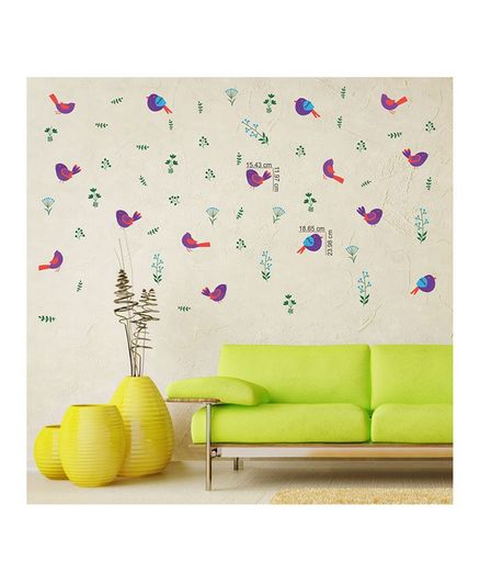 chippak bird theme wall sticker multi color online in india, buy at