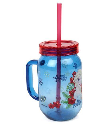 Disney Frozen Tumbler With Handle & Straw Blue - 500 ml