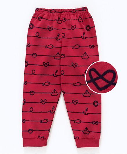 Olio Kids Full Length Lounge Pant Fish Print - Red