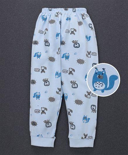 Olio Kids Full Length Lounge Pant Animals Print - Blue