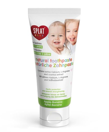 Splat Baby's Natural Toothpaste Apple-Banana With Tooth Brush - 40 ml
