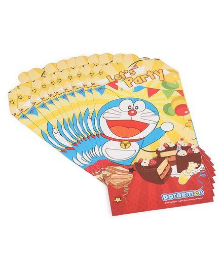 Doraemon Invitation Card Pack of 10 - Multi Color