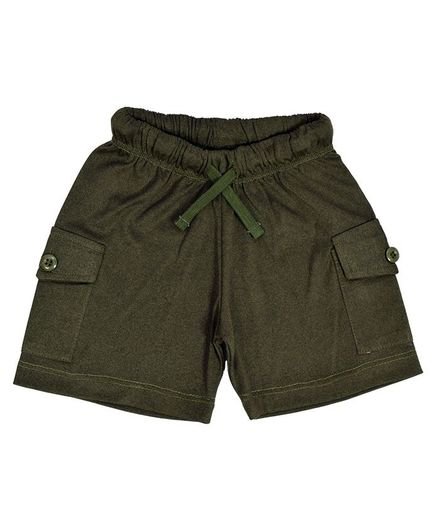 Crayonflakes Shorts With Cargo Pockets & Drawstring - Dark Green