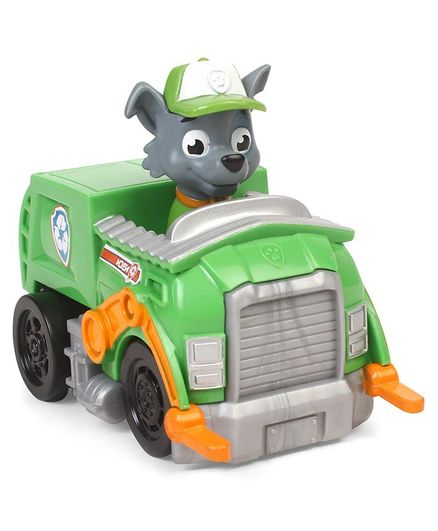Paw Patrol Rocky Pup With Monster Truck - Green