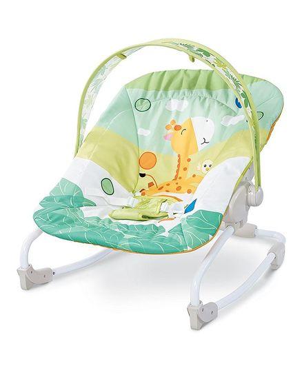 Webby Newborn to Toddler Portable Baby Rocker - Green