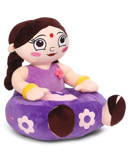 Chhota Bheem Chutki Shaped Sofa Seat - Purple