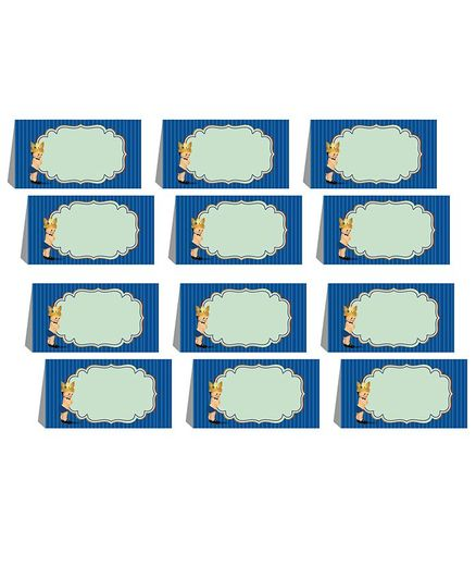 Party Propz Prince Theme Menu Cards Blue - Pack of 12
